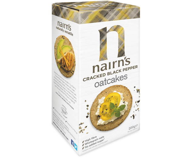 Nairns Cracked Black Pepper Oatcakes 200g