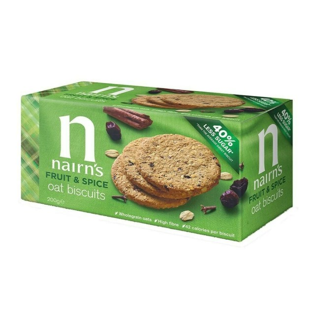 Nairns Fruit & Spice Oat Biscuits 200g