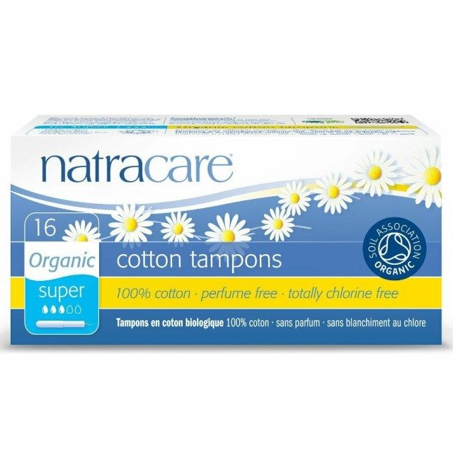 Natracare Organic Cotton Applicator Tampons Super 16