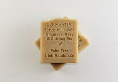 Palm Free Irish Thyme Travel Shampoo and Shaving Bar