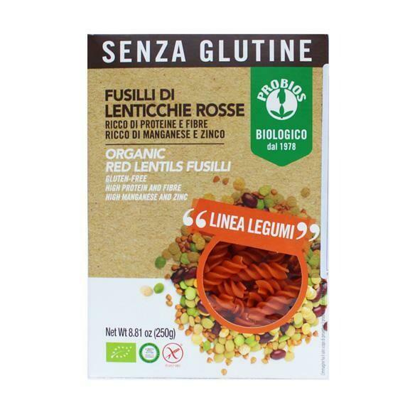 Probios Organic Red Lentil Fusilli (Gluten-Free) 250g