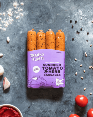 Thanks Plants Sundried Tomato and Herb Sausages 300g