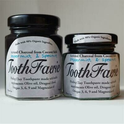 ToothFaerie Activated Charcoal Peppermint and Spearmint 55ml