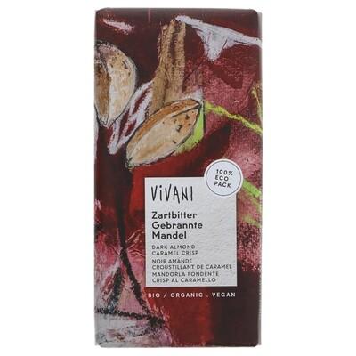Vivani Organic Dark Almond Caramel Crisp 80g
