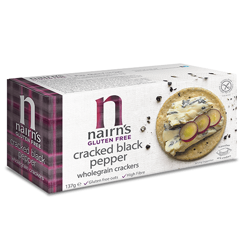 Nairns Gluten Free Cracked Black Pepper Wholegrain Crackers 137g
