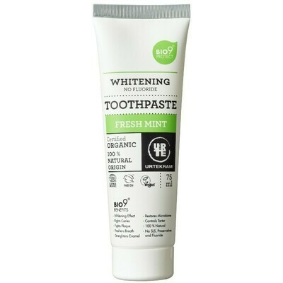 Urtekram Organic Fresh Mint Whitening Toothpaste 75ml