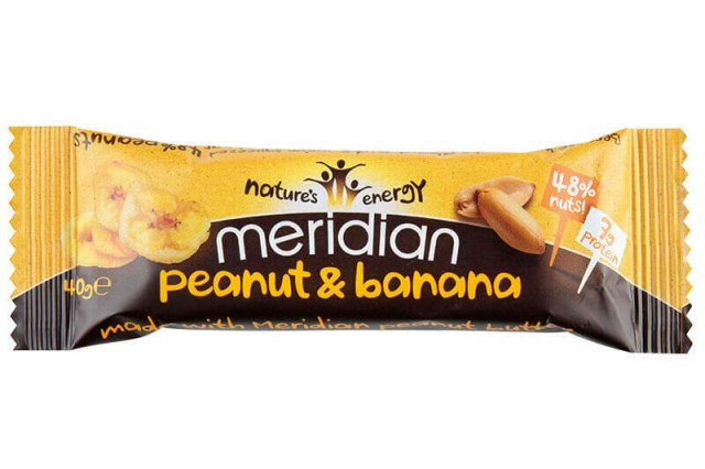 Meridian Peanut & Banana Gluten Free Bar 40g