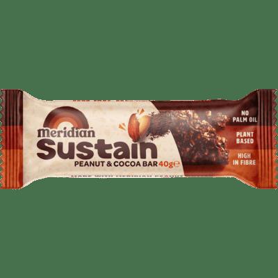 Meridian Peanut & Cocoa Gluten Free Bar 40g
