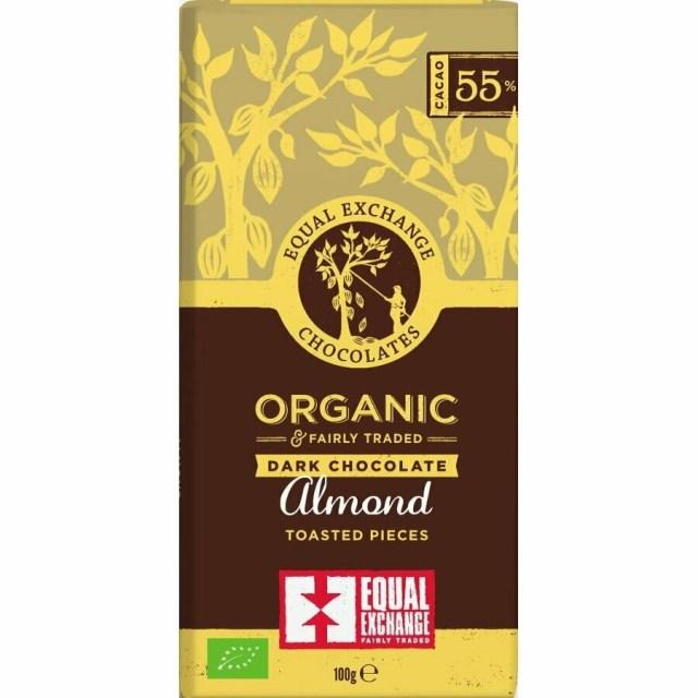 Equal Exchange Organic Almond 55% Dark Chocolate 100g