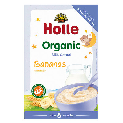 Holle Organic Baby Milk Cereal With Banana 250g