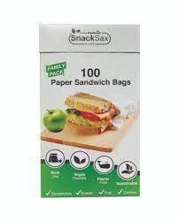 SnackSax Paper Sandwich Bags 100pcs