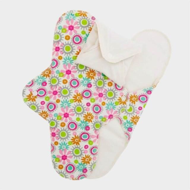 ImseVimse Reusable Menstrual Pads Night Flowers 3pk