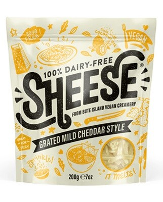 Bute Island Sheese Vegan Grated Mild Cheddar 200g