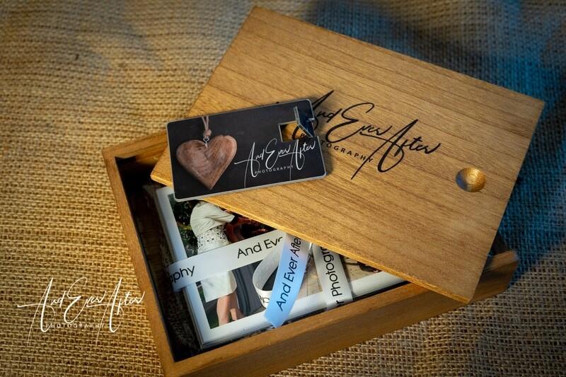 Wooden Keepsake Box With USB &  50 Prints