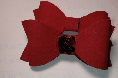 Suede hairbows. I have red, black and tan