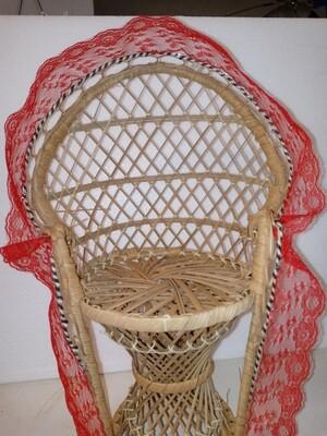 Wicker chair 12 in