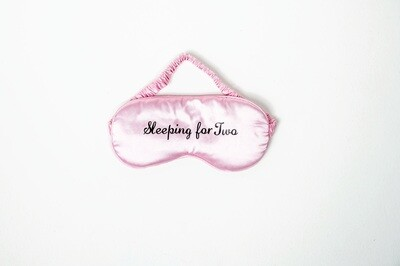 Sleeping for Two Sleep Mask in Pink and Black | Pregnancy Gift