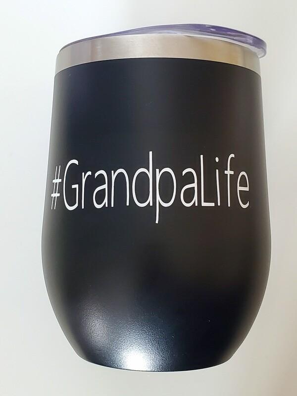 #GrandpaLife Travel Coffee/Wine Tumbler | Pregnancy Announcement