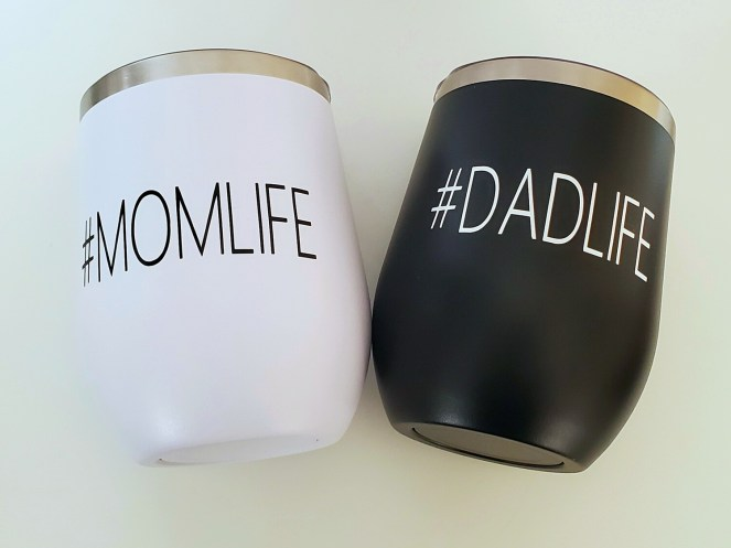 #MOMLIFE #DADLIFE Travel Coffee/Wine Tumbler | Pregnancy Announcement | Mother's Day | Father's Day | Valentine's Day
