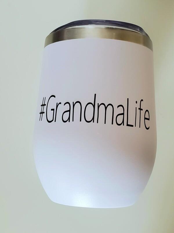 #GrandmaLife Travel Coffee/Wine Tumbler | Pregnancy Announcement