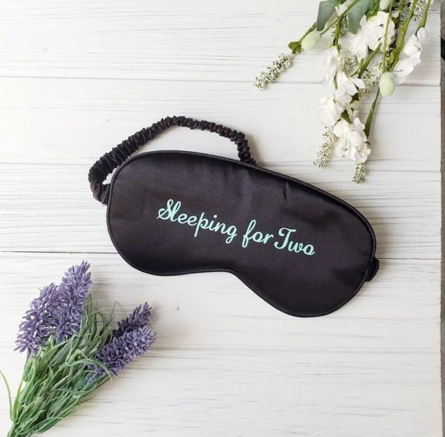 Sleeping for Two Sleep Mask Black and Mint