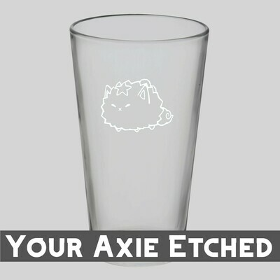 Custom Axie Etched Beer Glass