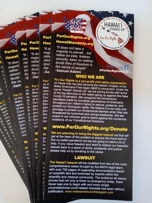 Hawai'i Stands Up! Brochure
