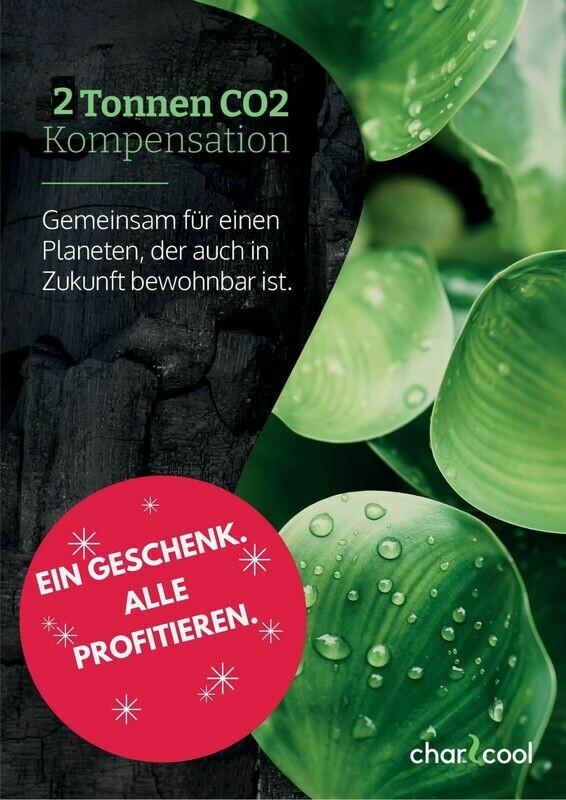 Weihnachtsaktion - 2 to CO2-Kompensations-Zertifikat aus Wasserhyazinthenkohle