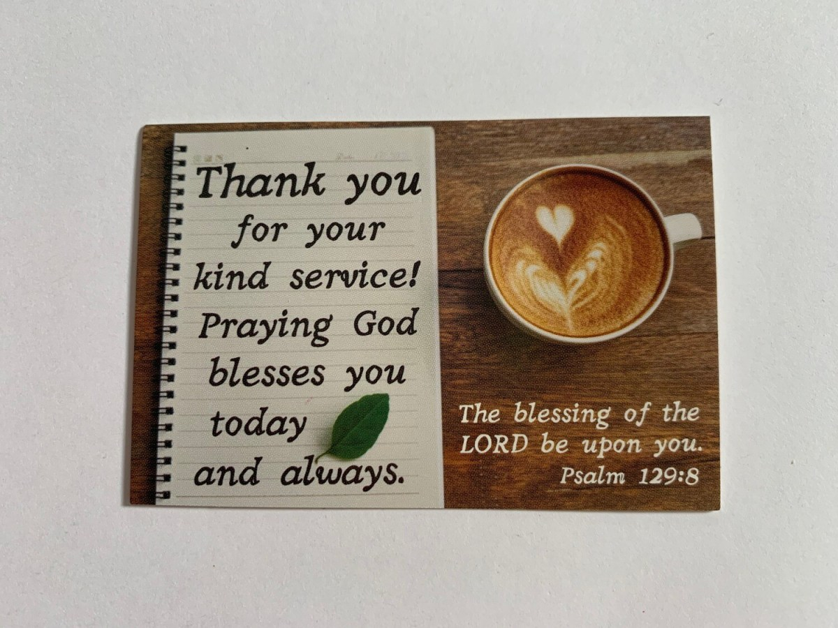 Pass It On - Thank You for Your Kind Service Psalm 129: 8