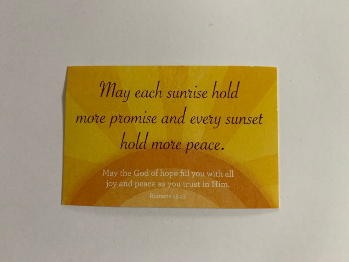 Pass It On - May Each Sunrise Rom. 15:13