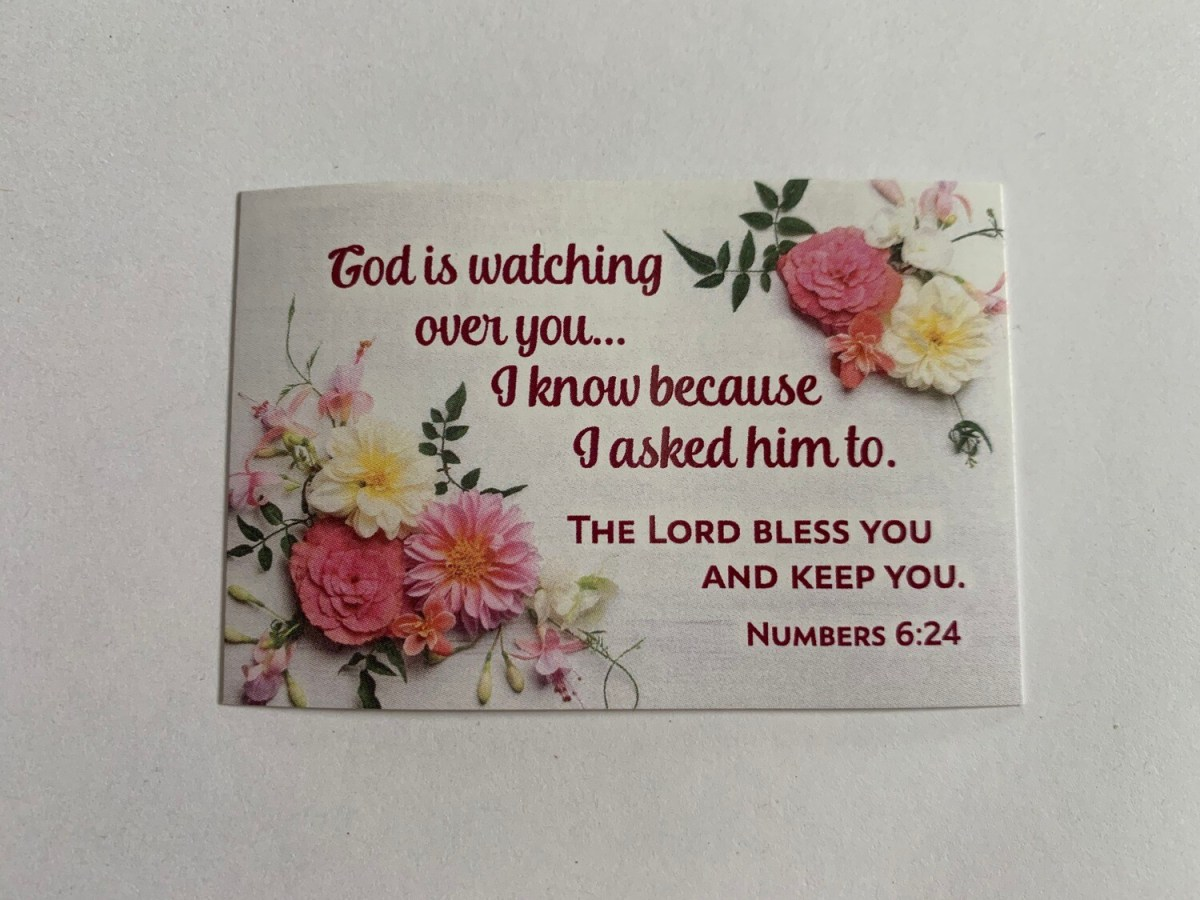 Pass It On - God is Watching Over You Num. 6:24