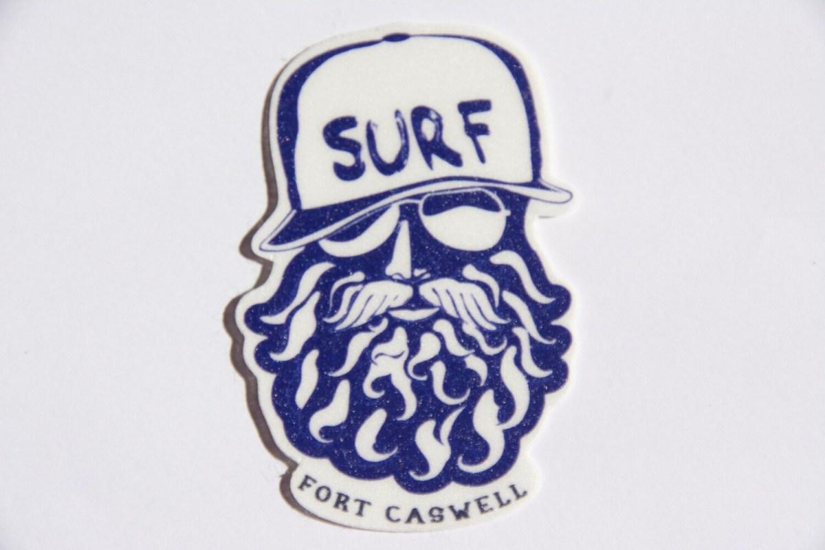 Mini Bearded Surfer Sticker