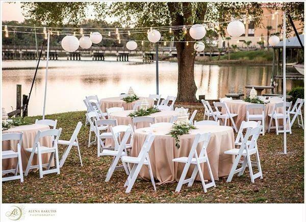 Premium White Resin Padded Chairs