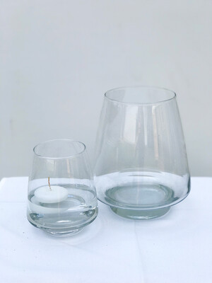 Pryamid Glass Vase