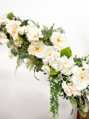 White Floral Arch Piece