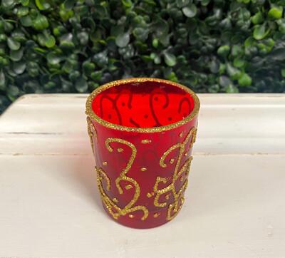 Red Decorative Votive