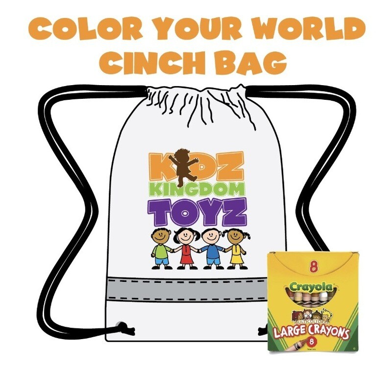Color Your World Cinch Bag