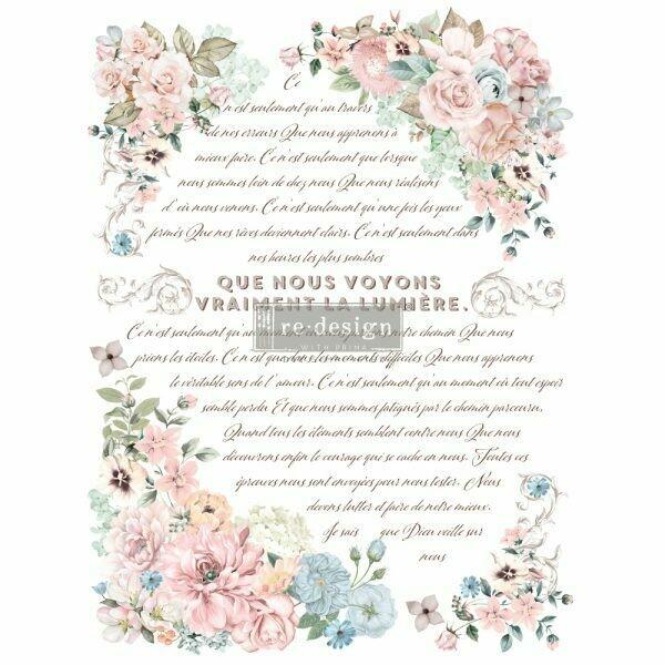 Prima Decor Transfer: Pure Light Floral