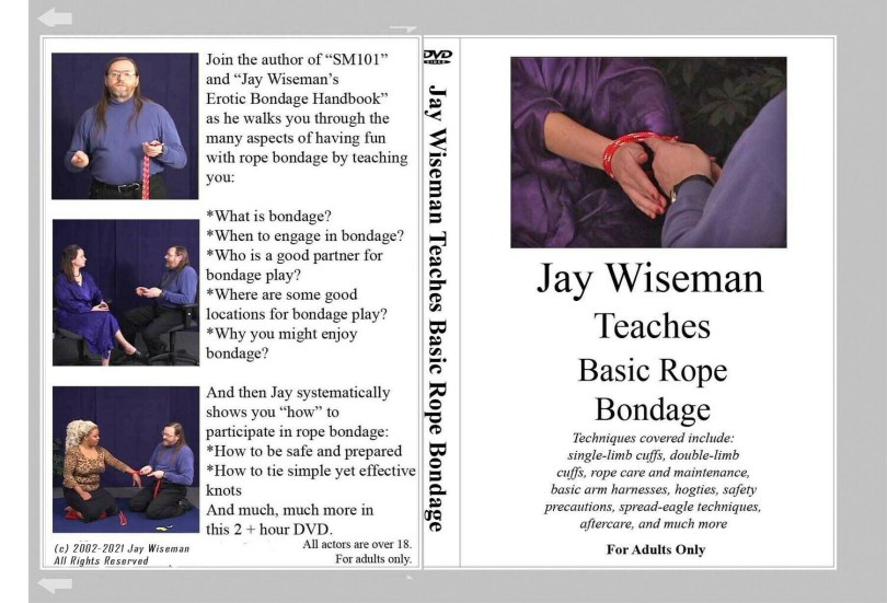 Jay Wiseman Teaches Basic Rope Bondage - DVD