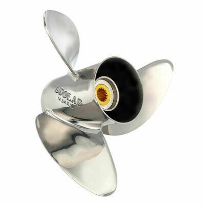 Solas New Saturn 3-Blade Prop, Pressed Rubber Hub / SS, 13 dia x 19, RH