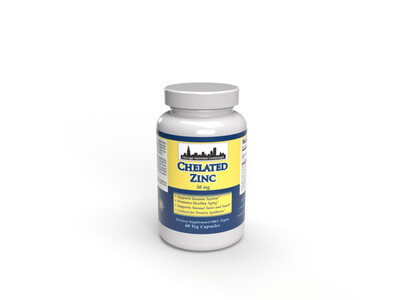 Chelated Zinc 50mg - 60 Veg Capsules