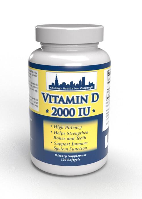 Vitamin D  2000 IU - 120 SoftGels
