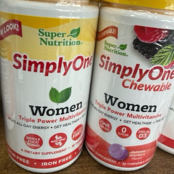 SimplyOne 50+ Women Iron Free 30ct