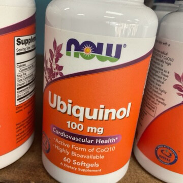 Ubiquinol 100mg (60 Soft Gels)