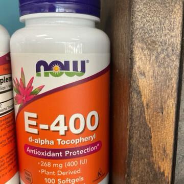 E-400 IU D-Alpha Tocopherol Acetate (100 Gels)