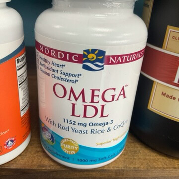 Omega LDL 1152mg w/ red yeast (60)