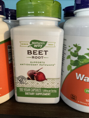 Beet Root capsules (Nature's Way)