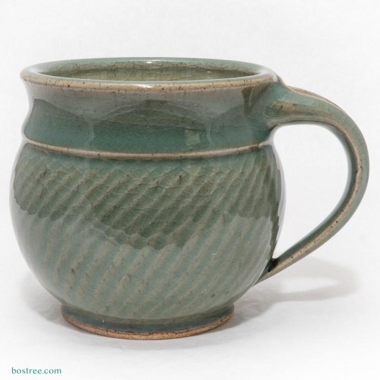 Stoneware Mug by Andy Boswell #white chun