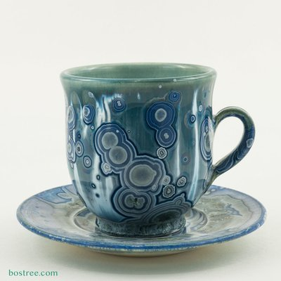 Crystalline Glaze Cup and Saucer by Andy Boswell #ABCS012
