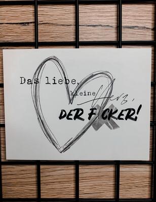 """Postkarte """"Das liebe, kleine Herz ..."""""""